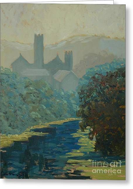 The River By The Castle Greeting Card