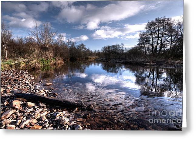 The River Culm At Five Fords Greeting Card by Rob Hawkins