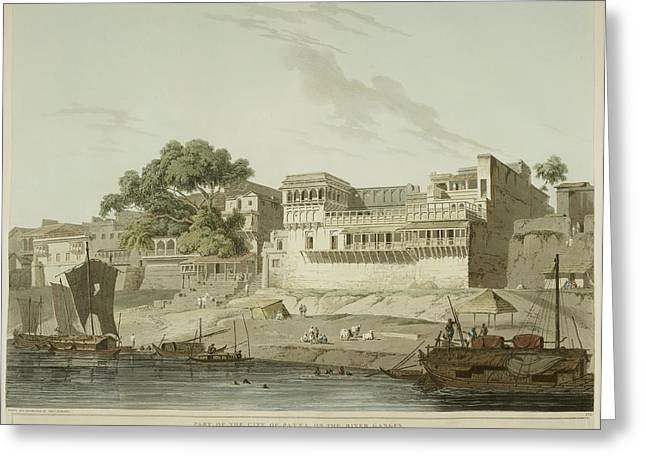 The River Ganges And Patna City Greeting Card by British Library