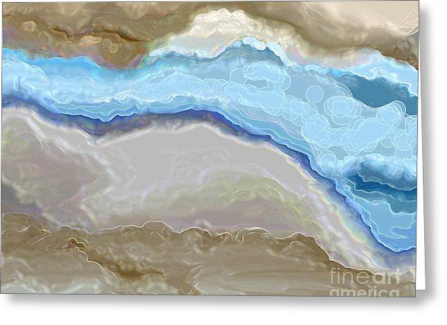 Greeting Card featuring the digital art The River by Lena Wilhite