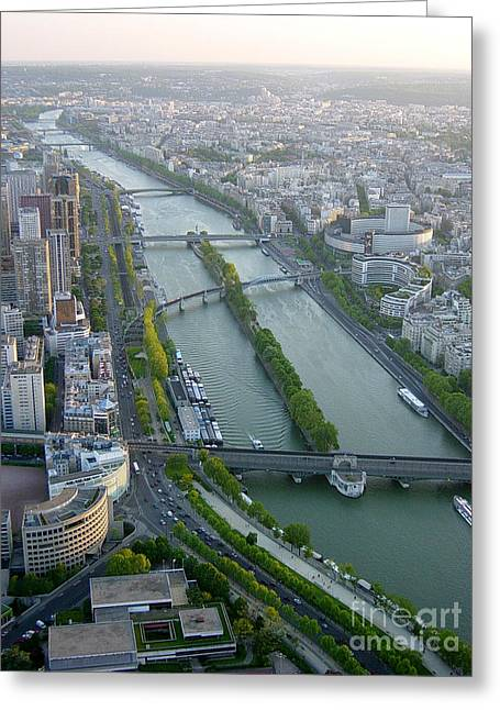 Greeting Card featuring the photograph The River Seine by Deborah Smolinske