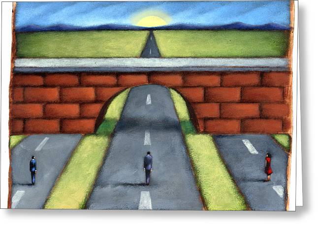The Road Ahead Greeting Card by Steve Dininno