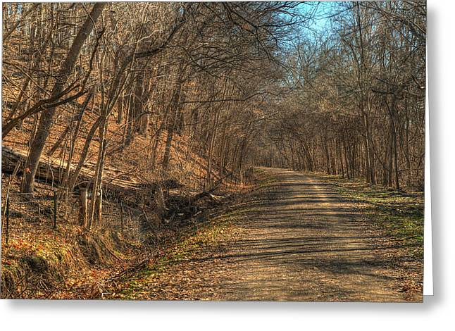 The Road Goes Ever On Greeting Card by William Fields
