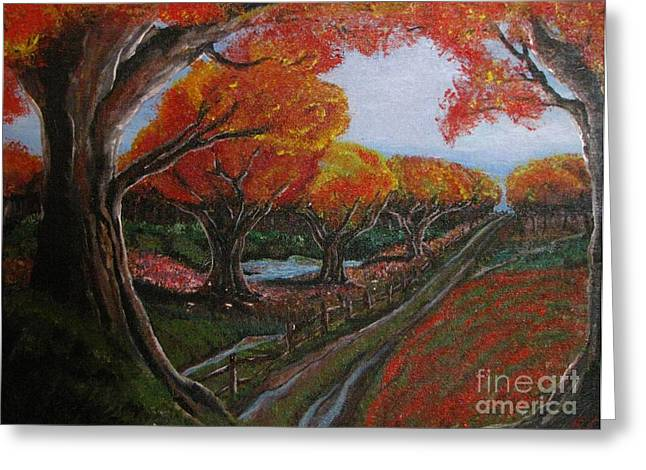 The Road Home Greeting Card by Erik Coryell