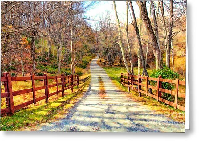 The Road Home - North Carolina Greeting Card