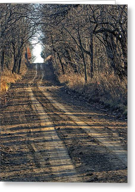 The Road Less Traveled Greeting Card by Kevin Anderson