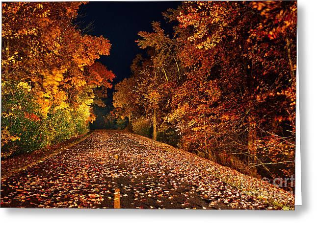 The Road Less Traveled - Blue Ridge Parkway I Greeting Card by Dan Carmichael
