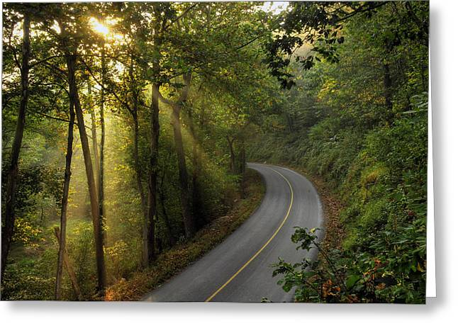 The Road Less Traveled Greeting Card by Dan Myers