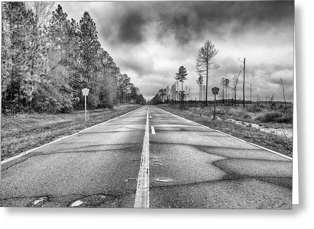 The Road Less Traveled Greeting Card by Howard Salmon