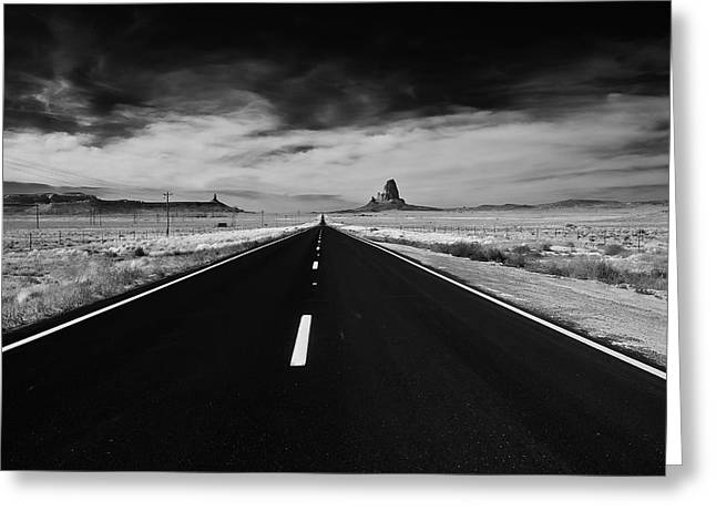 Greeting Card featuring the photograph The Road Less Traveled by Louis Dallara