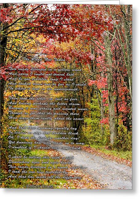 The Road Not Taken Greeting Card