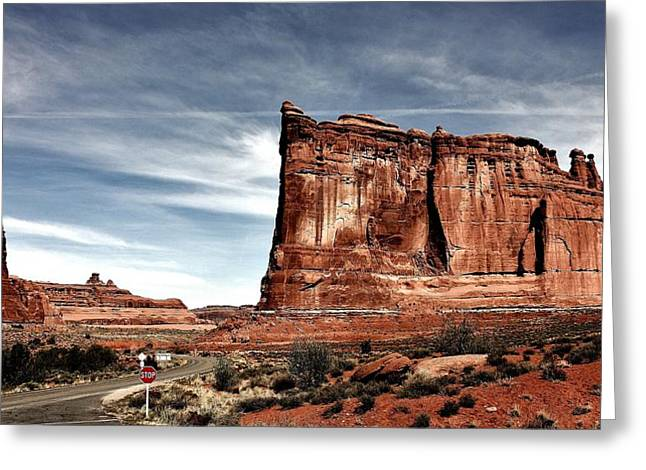 The Road Through Arches Greeting Card by Benjamin Yeager