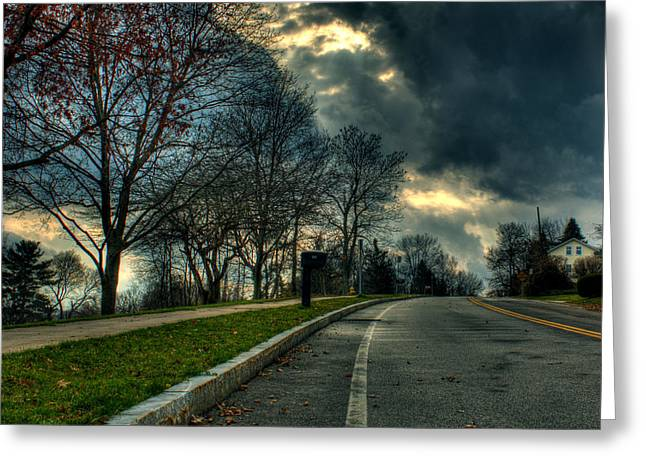 The Road Greeting Card by Tim Buisman
