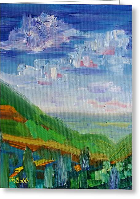 The Road To A Friends House Is Never Long Greeting Card by Margaret Bobb