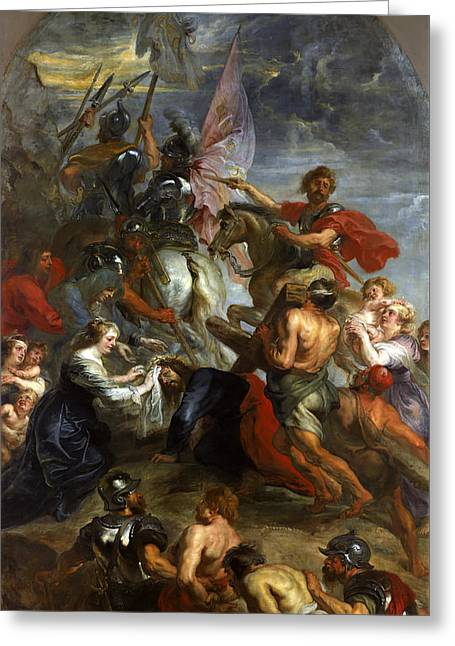The Road To Calvary Greeting Card by Peter Paul Rubens