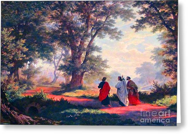 The Road To Emmaus Greeting Card
