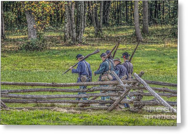 The Road To Gettysburg Greeting Card by Randy Steele