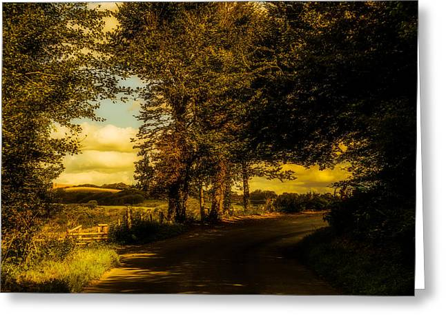 Greeting Card featuring the photograph The Road To Litlington by Chris Lord