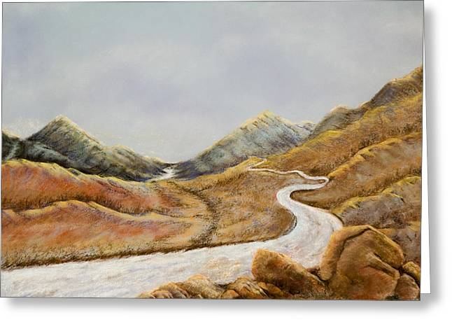 Greeting Card featuring the painting The Road To Nowhere by Susan Culver
