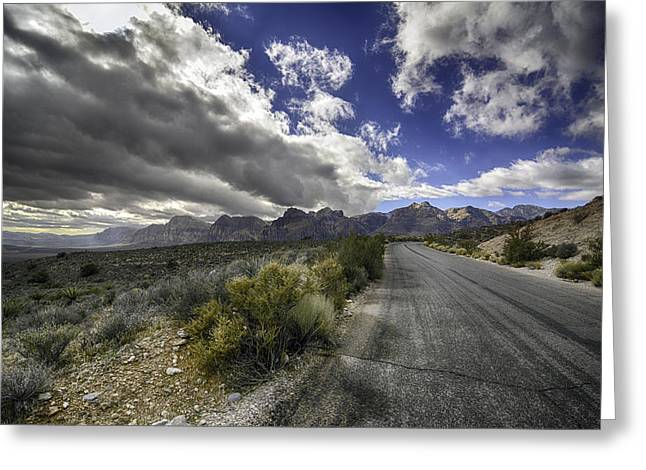 The Road To Red Rock Greeting Card
