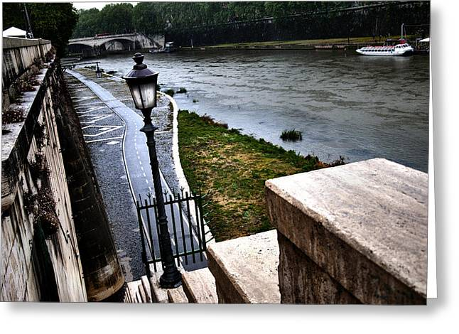 The Road To Tevere Greeting Card by Francesco Zappala