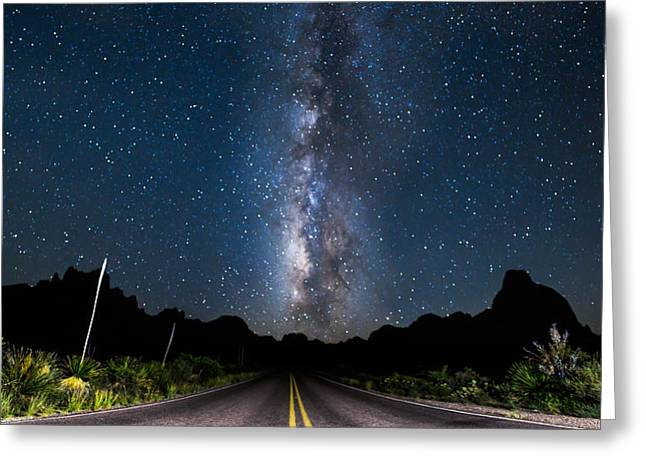 The Road To The Chisos Greeting Card