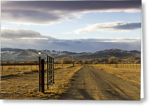 The Road To The Mountains Greeting Card by Dana Moyer