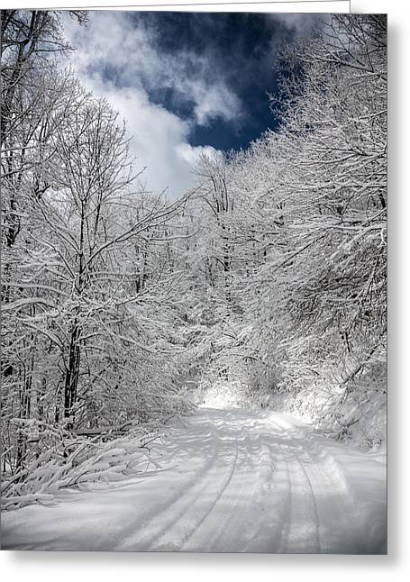 The Road To Winter Wonderland Greeting Card by John Haldane