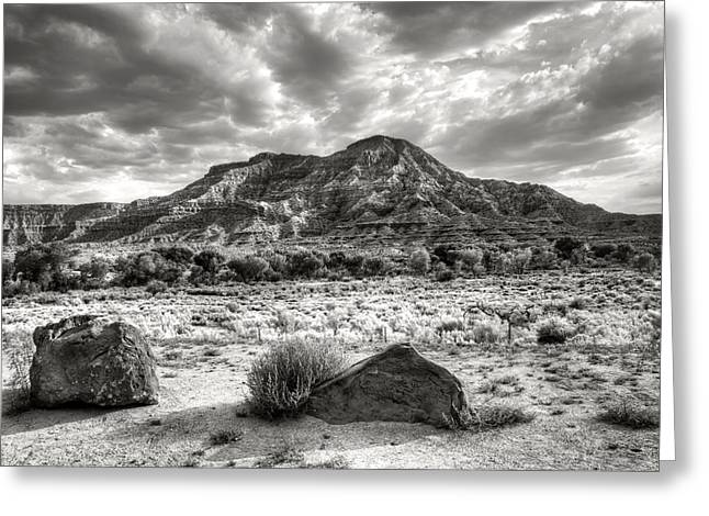 Greeting Card featuring the photograph The Road To Zion In Black And White by Tammy Wetzel