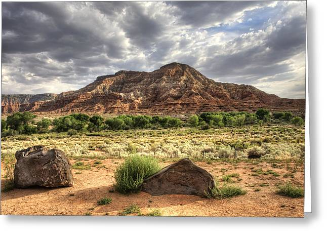 Greeting Card featuring the photograph The Road To Zion by Tammy Wetzel