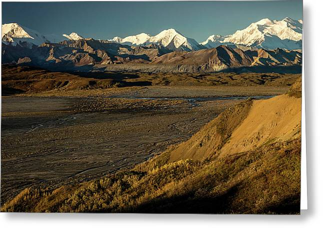 The Road Up To Polychome Pass, Denali Greeting Card