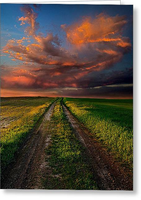 The Roads We Take Greeting Card by Phil Koch