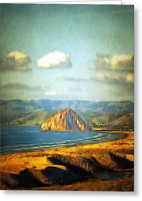 The Rock At Morro Bay 2 Greeting Card by Barbara Snyder