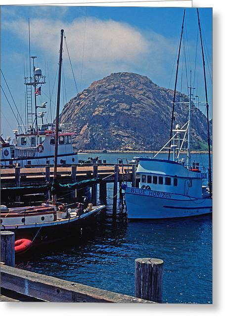 The Rock At Morro Bay Greeting Card by Kathy Yates