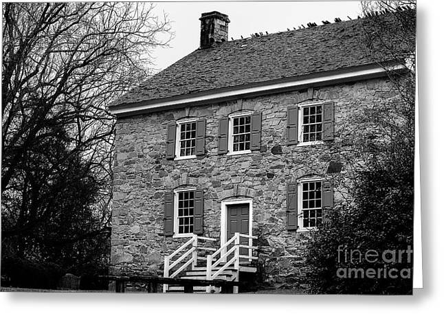 The Rock House Greeting Card by Robert Yaeger