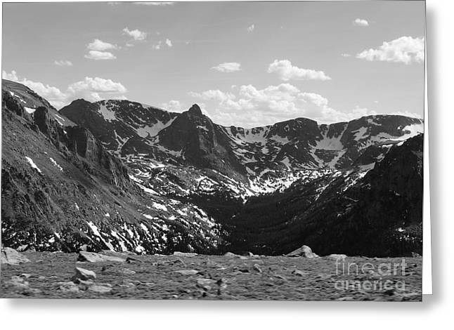 The Rockies Monochrome Greeting Card