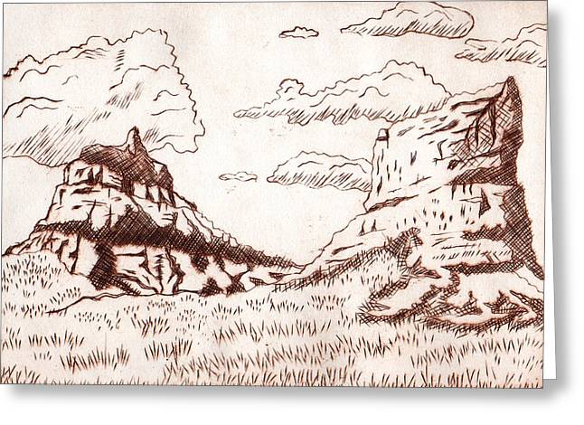 The Rocks Greeting Card by Dustin Miller