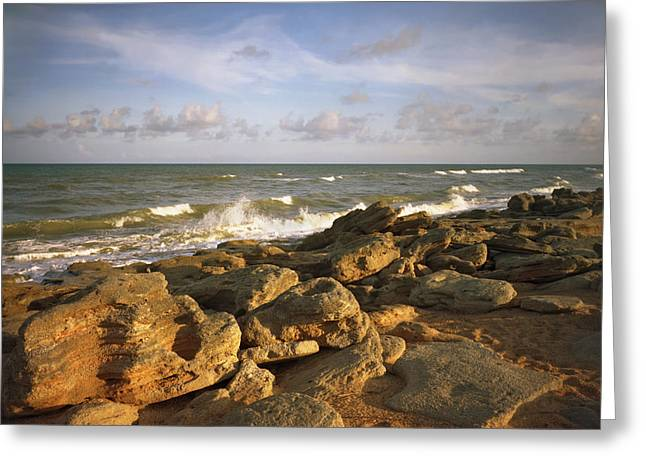 The Rocks Iv. Flagler County. Greeting Card