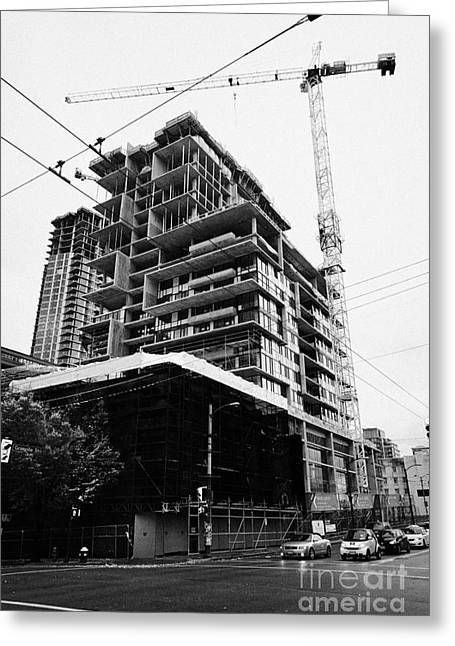 the rolston new condo project granville street Vancouver BC Canada Greeting Card by Joe Fox