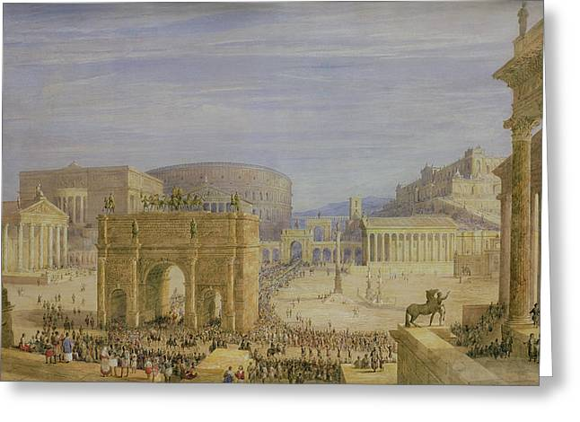 The Roman Forum Greeting Card by Francis Vyvyan Jago Arundale