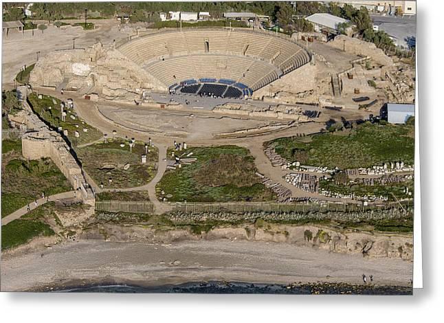 The Roman Theater, Caesarea Greeting Card