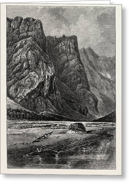 The Romsdal, Near Horgheim Greeting Card by English School