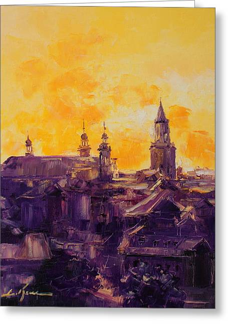 The Roofs Of Lublin Greeting Card