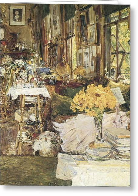 The Room Of Flowers Greeting Card by Childe Hassam