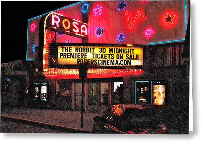 Greeting Card featuring the digital art The Rosa by David Blank