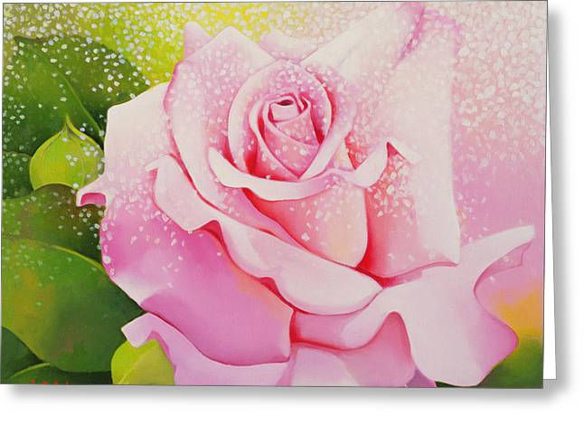 The Rose Greeting Card by Myung-Bo Sim