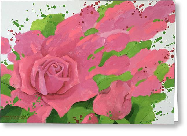 The Rose, In The Festival Of Light Greeting Card by Myung-Bo Sim