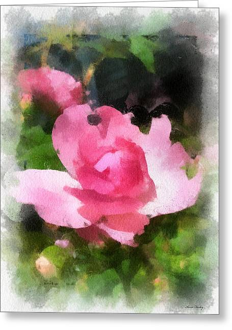 Greeting Card featuring the photograph The Rose by Kerri Farley