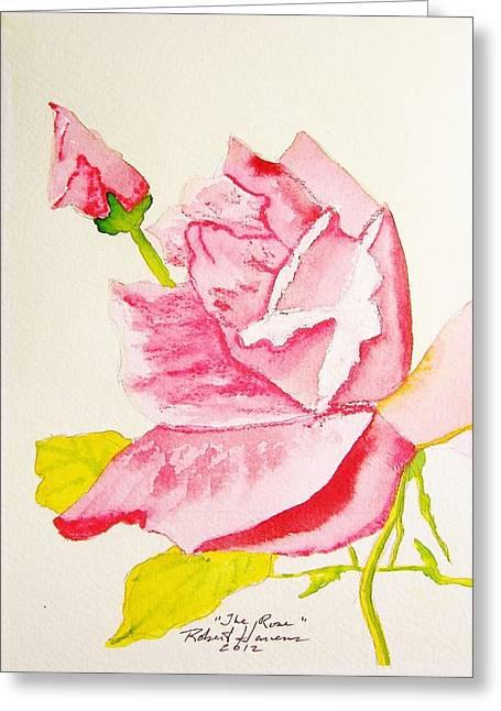 The Rose Greeting Card by Robert  ARTSYBOB Havens
