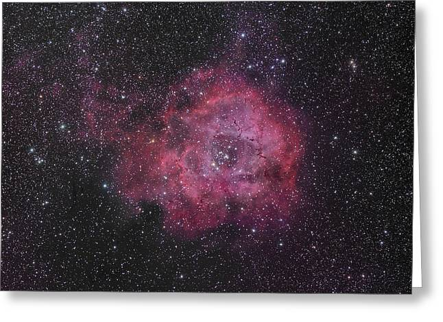 The Rosette Nebula Greeting Card by Brian Peterson